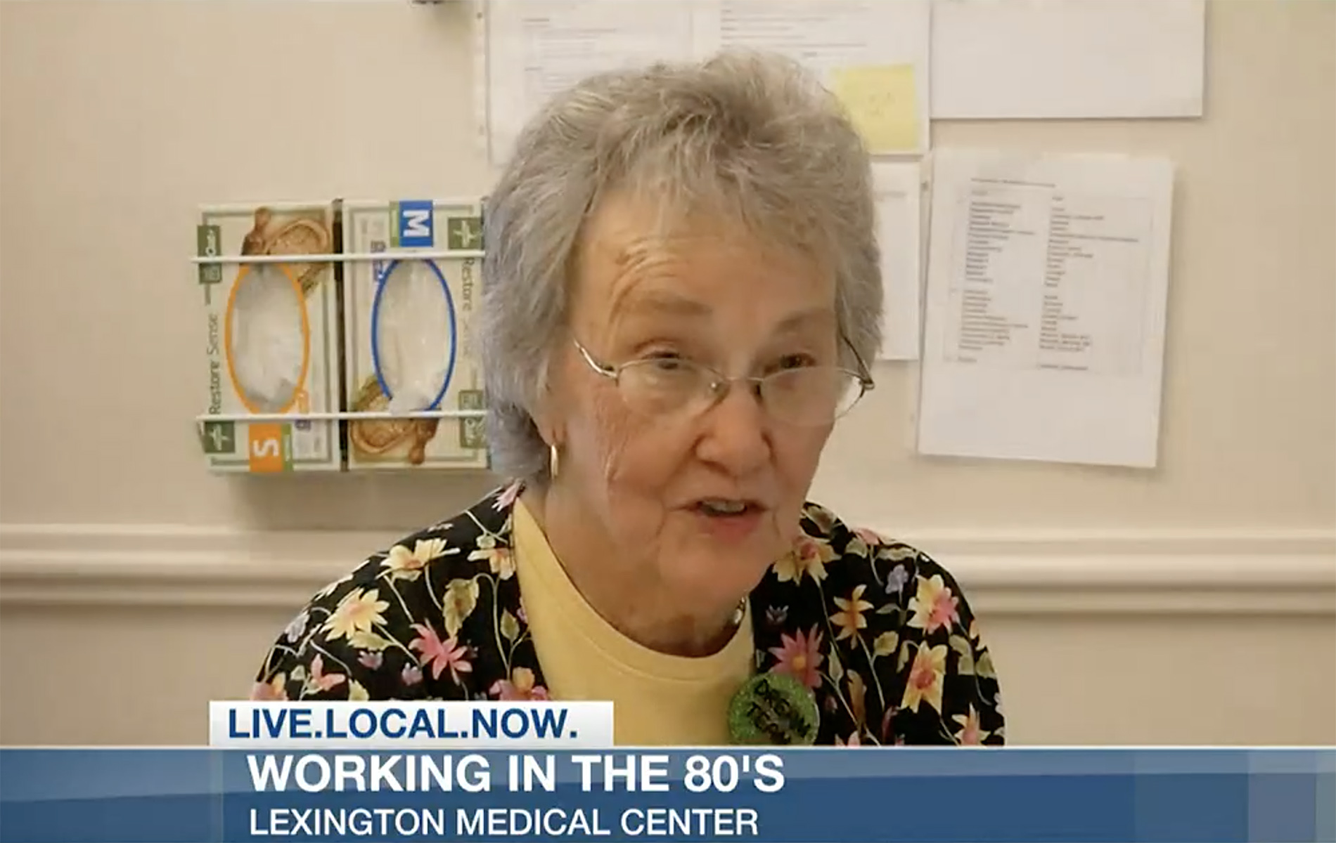 Fannie Ward interviewed at Lexington Medical Center