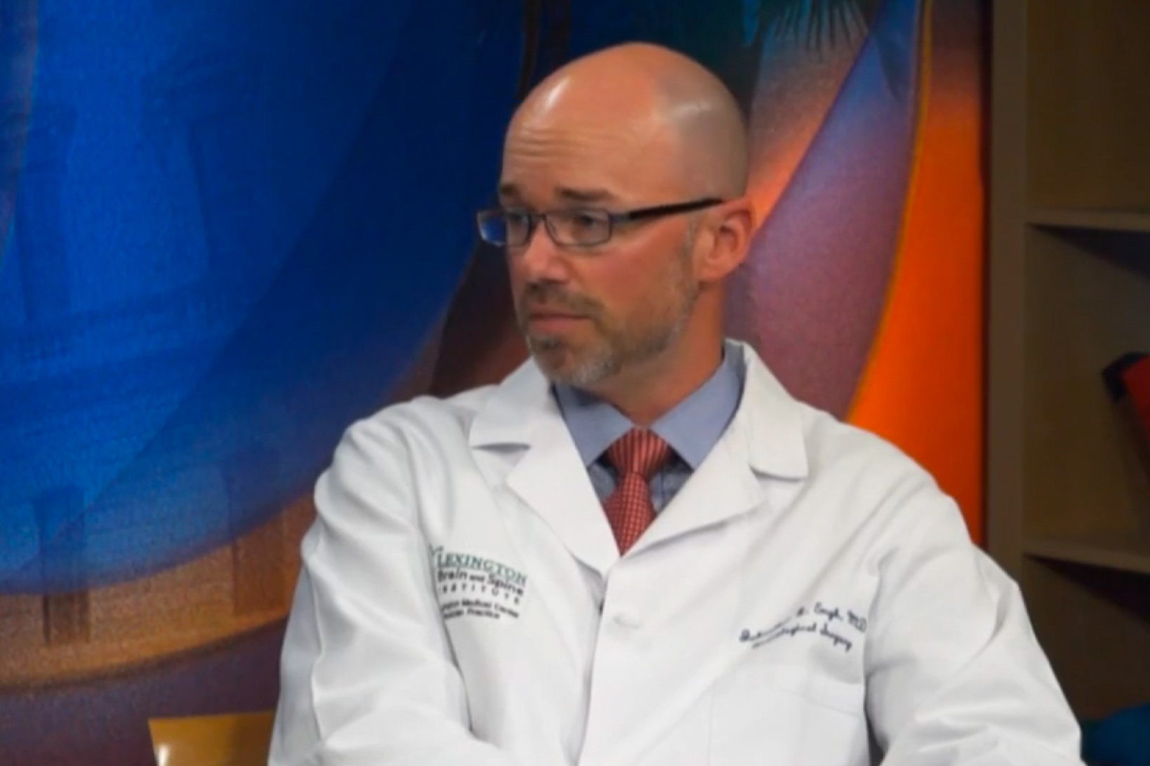 Dr. Johnathan Engh, during an interview on the set of WLTX news.