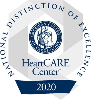 HeartCARE Center Award Seal